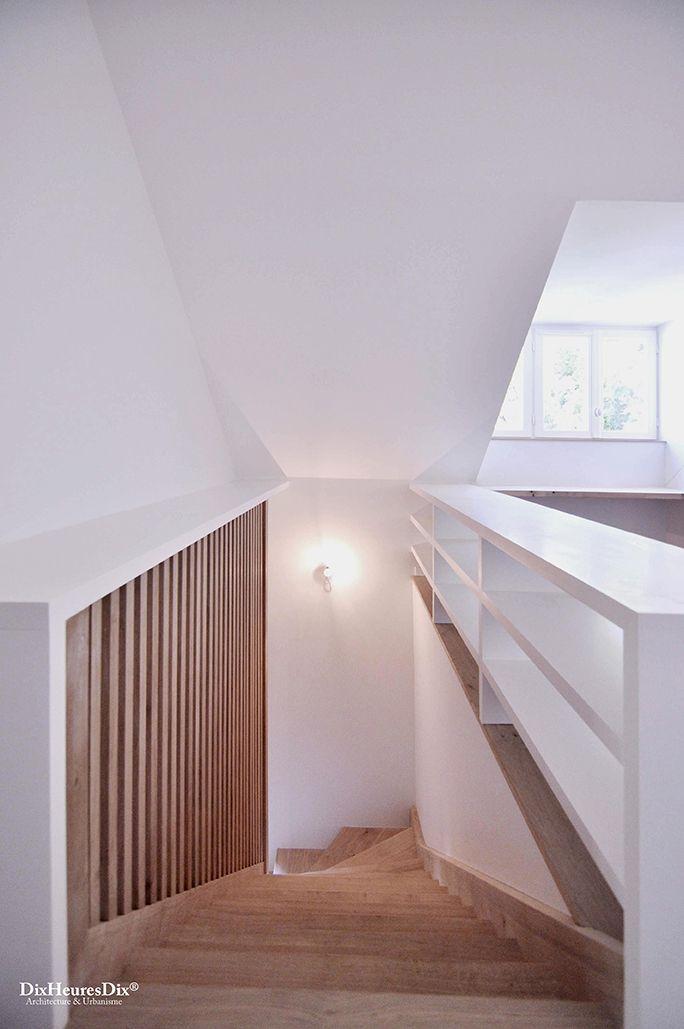 Escalier en bois et bardage en bois