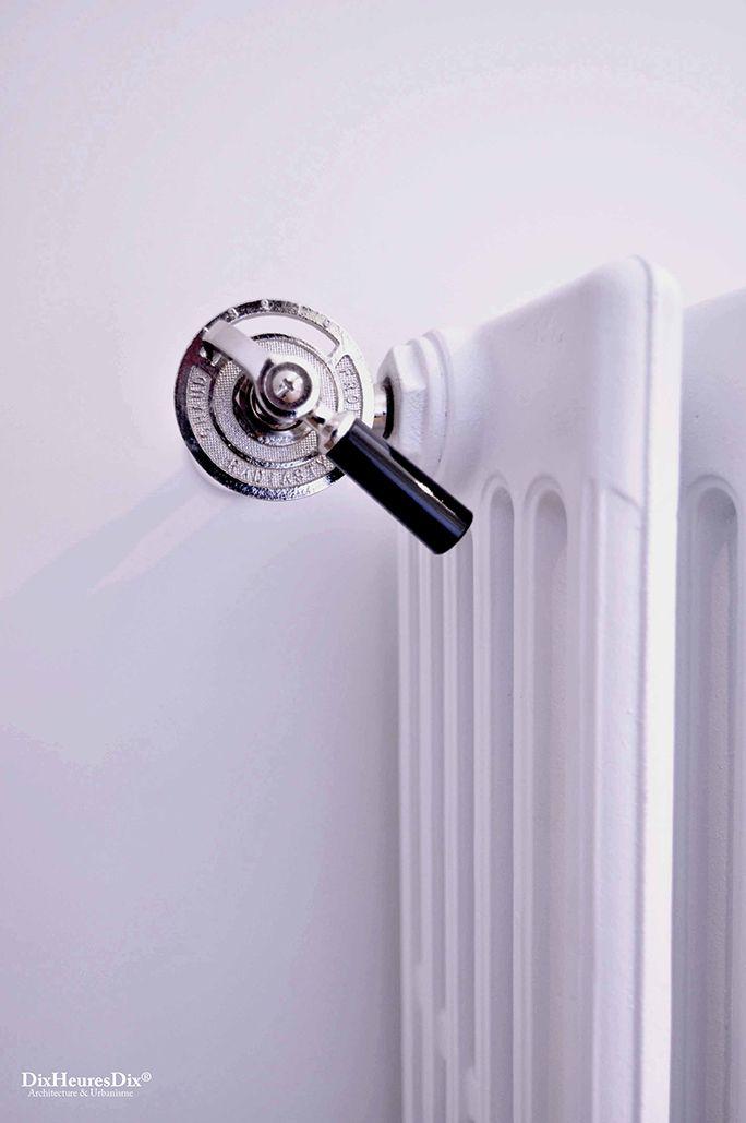 Détail, robinet de radiateur