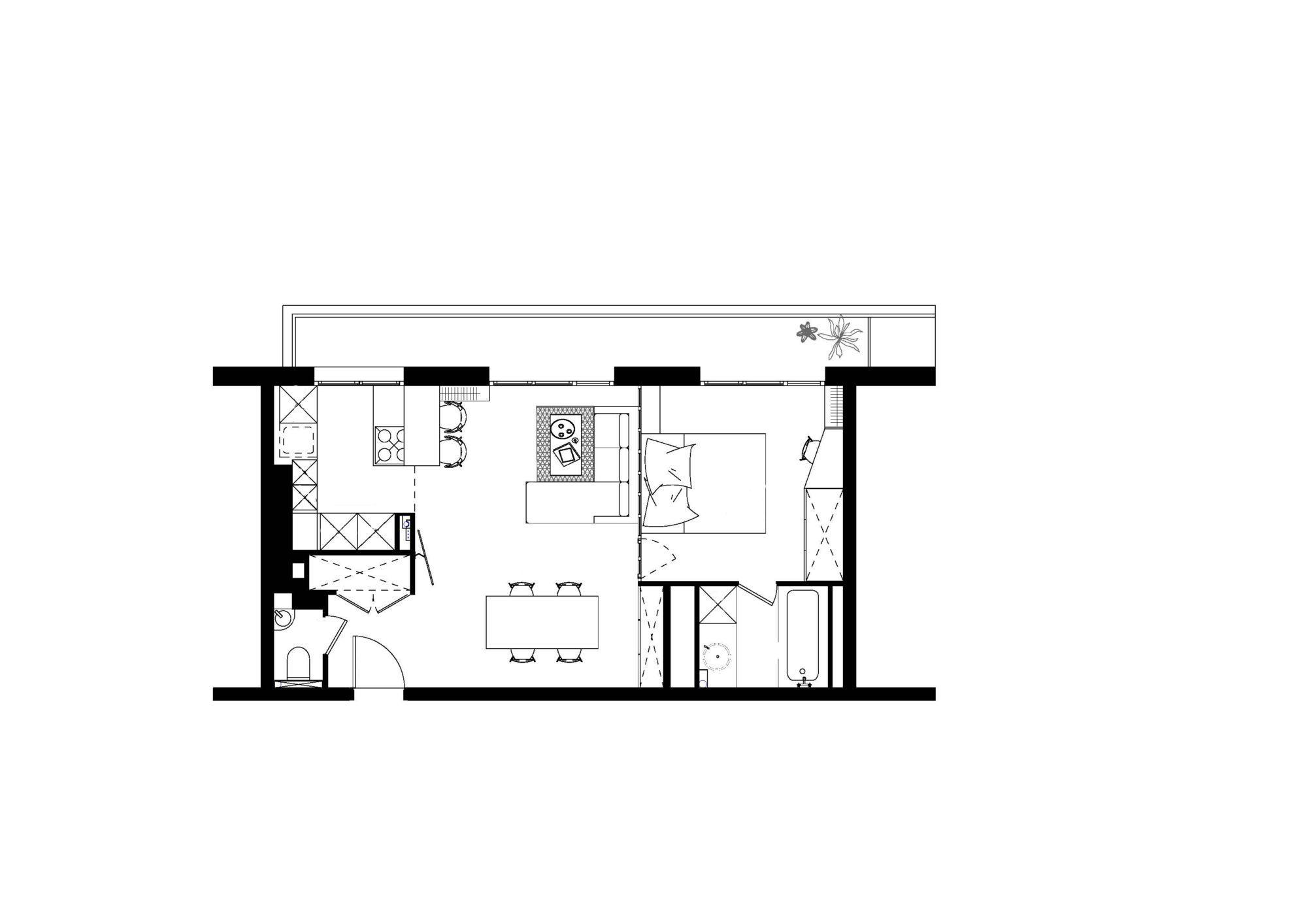 Plan de l'aménagement de l'appartement