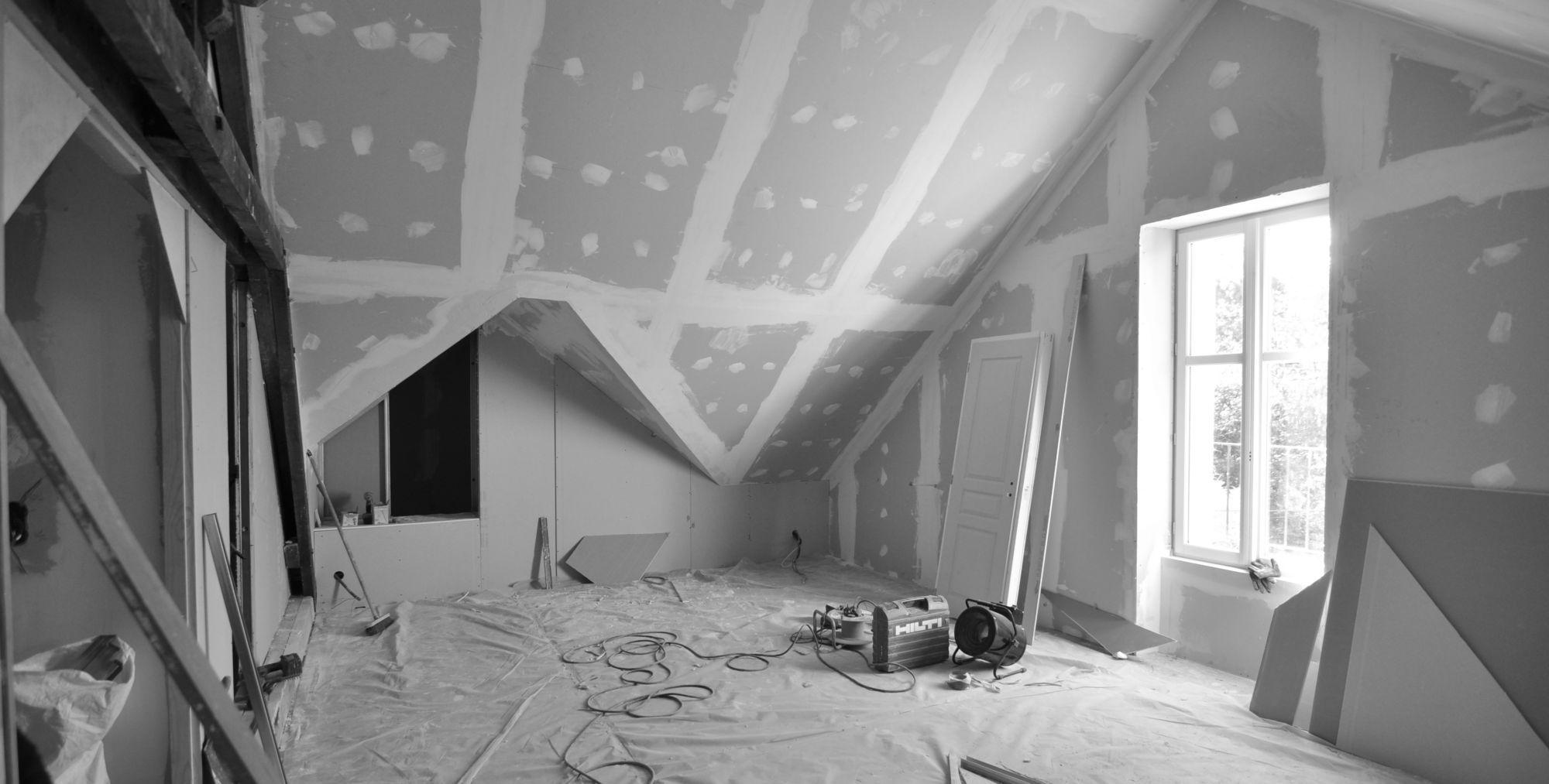 Chantier de renovation, chambre parentale