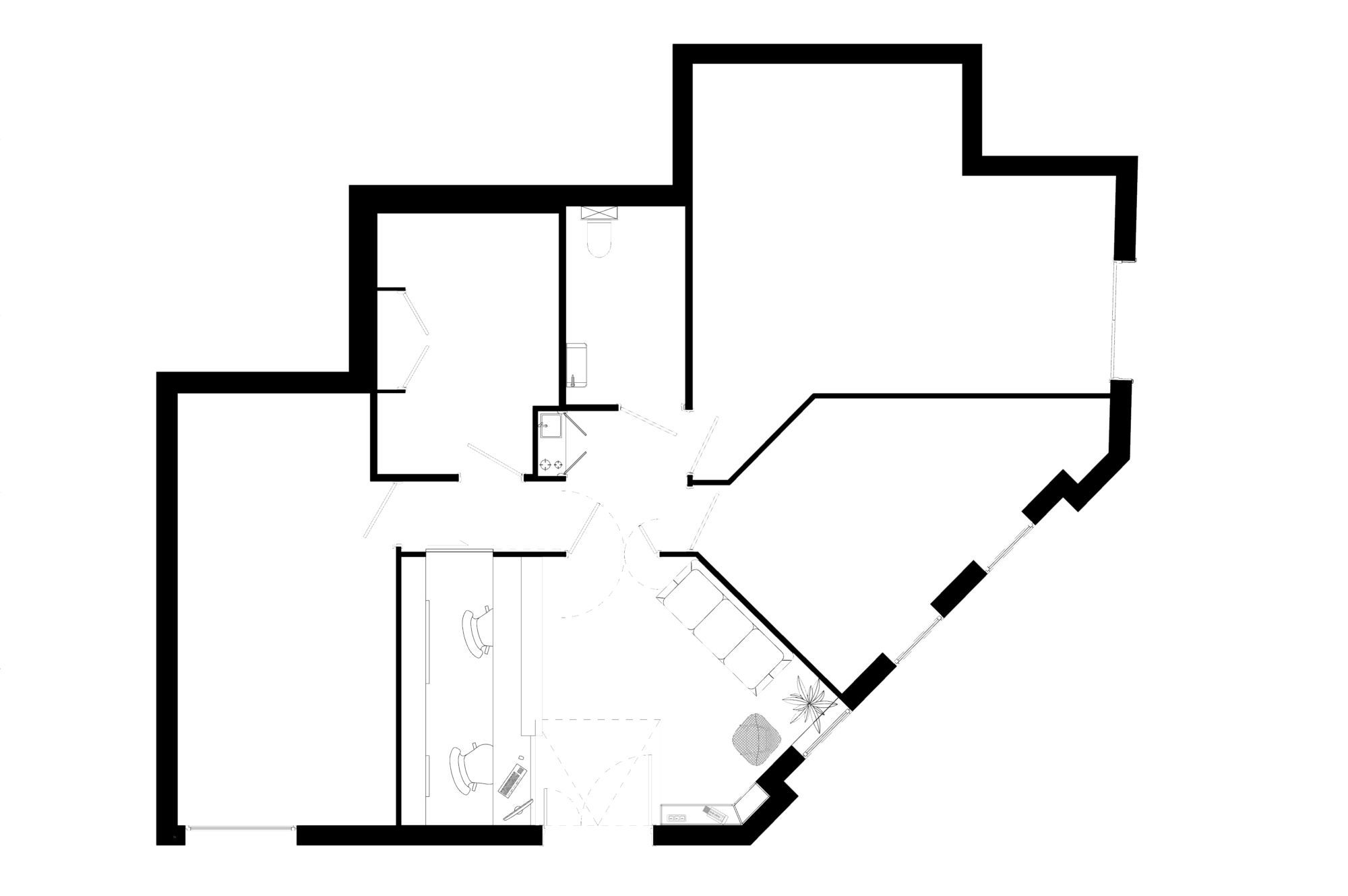 Plan de l'ensemble du cabinet après intervention