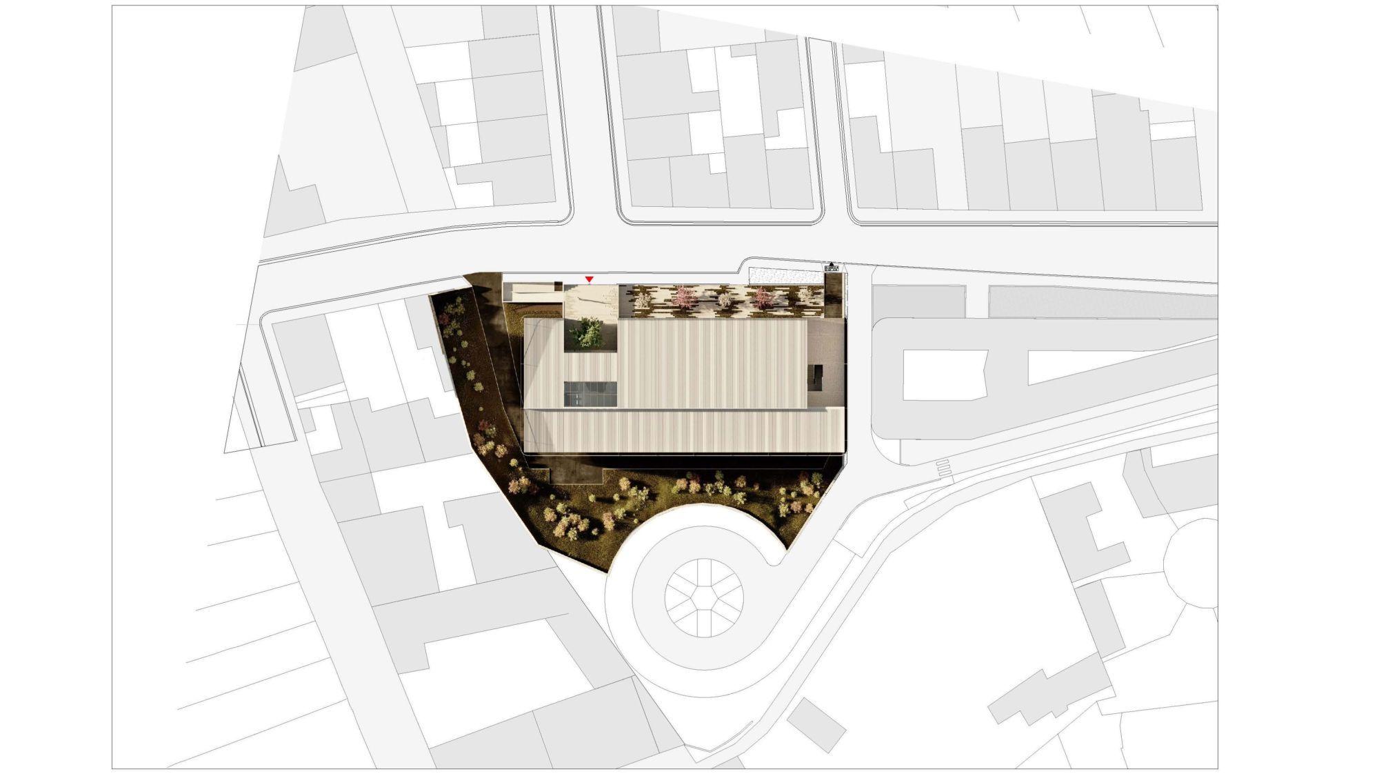 Plan de masse du bâtiment