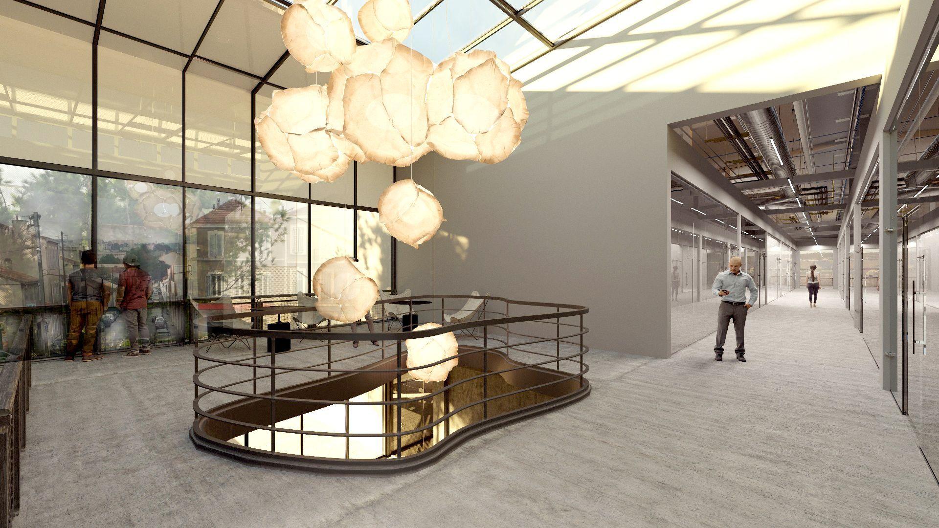 Perspective d'intérieure du bâtiment