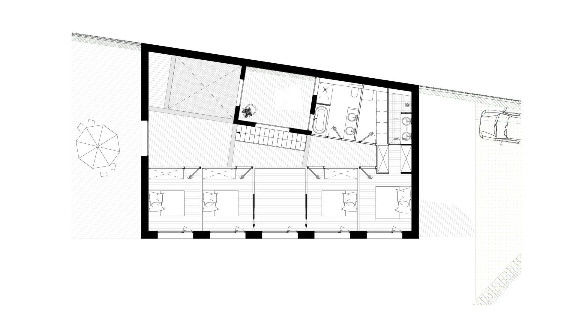 Plan de l'étage de la maison
