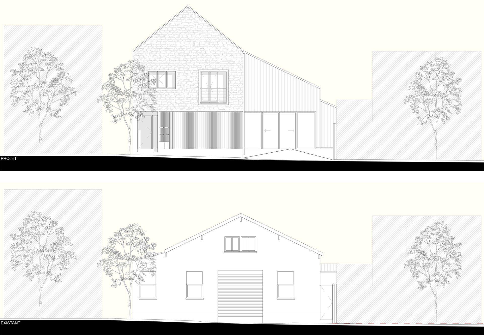 Evolution de la façade