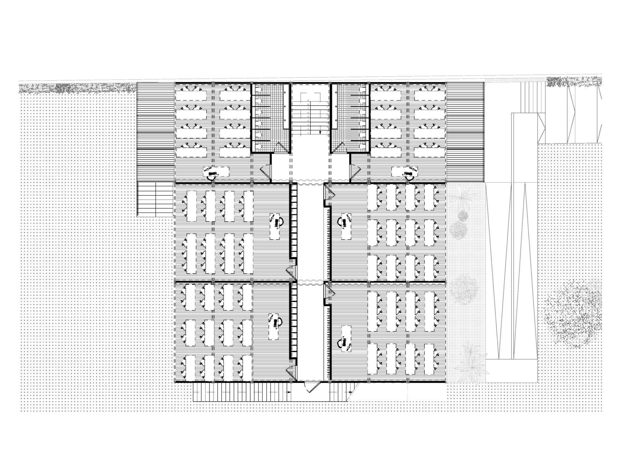 Plan de l'étage du bâtiement