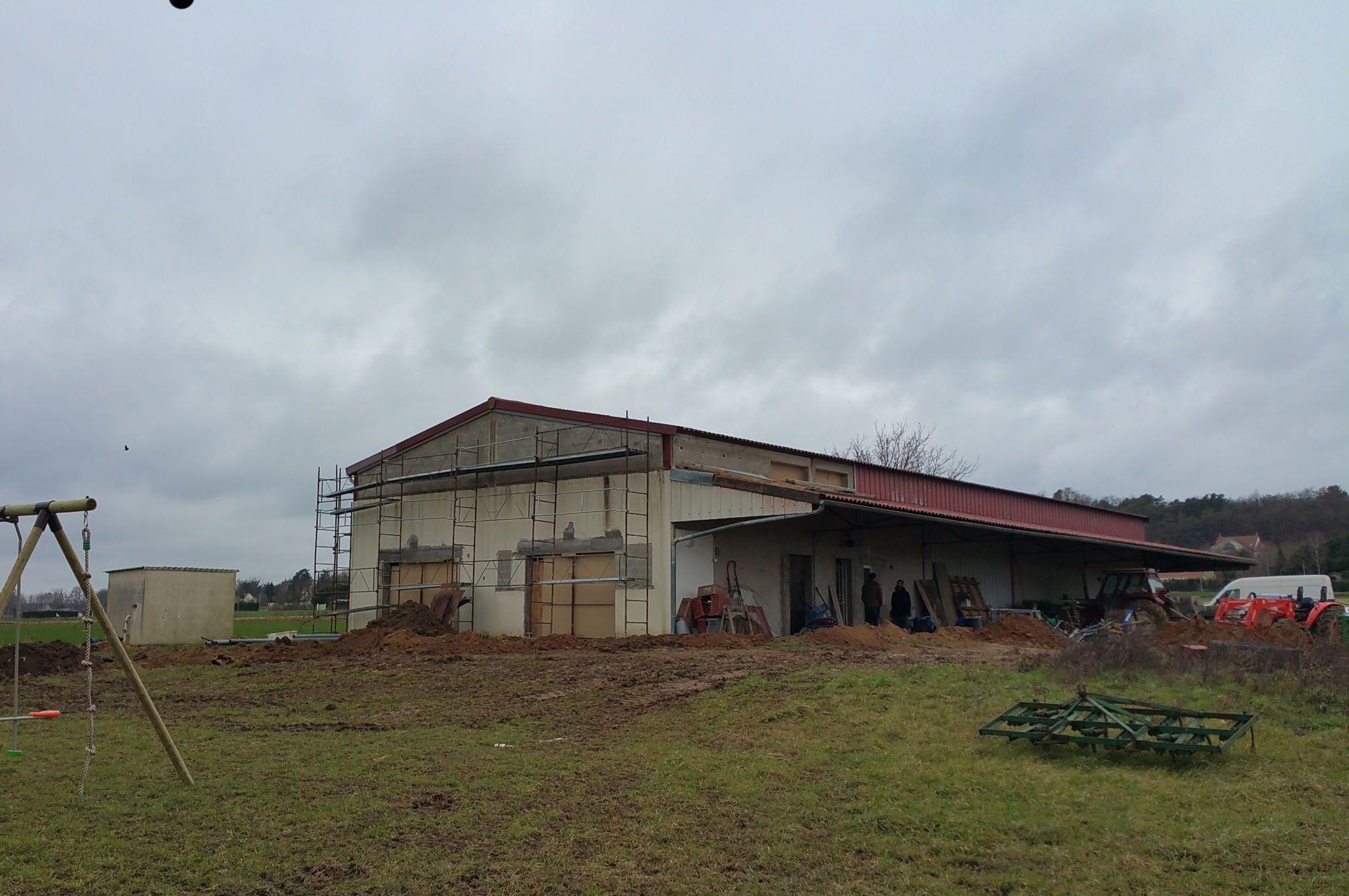 Réalisation - Architecture, Restructuration, aménagement, architecture intérieure, 10h10, décoration, ferme, champs, renovation, restructuration, chantier