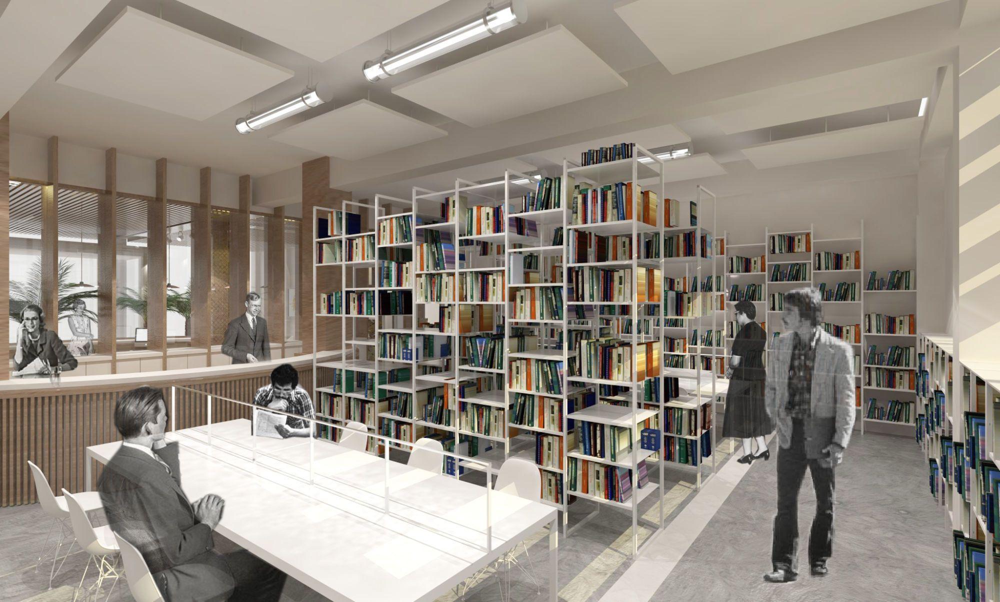 Bibliothèque avec meuble sur mesure