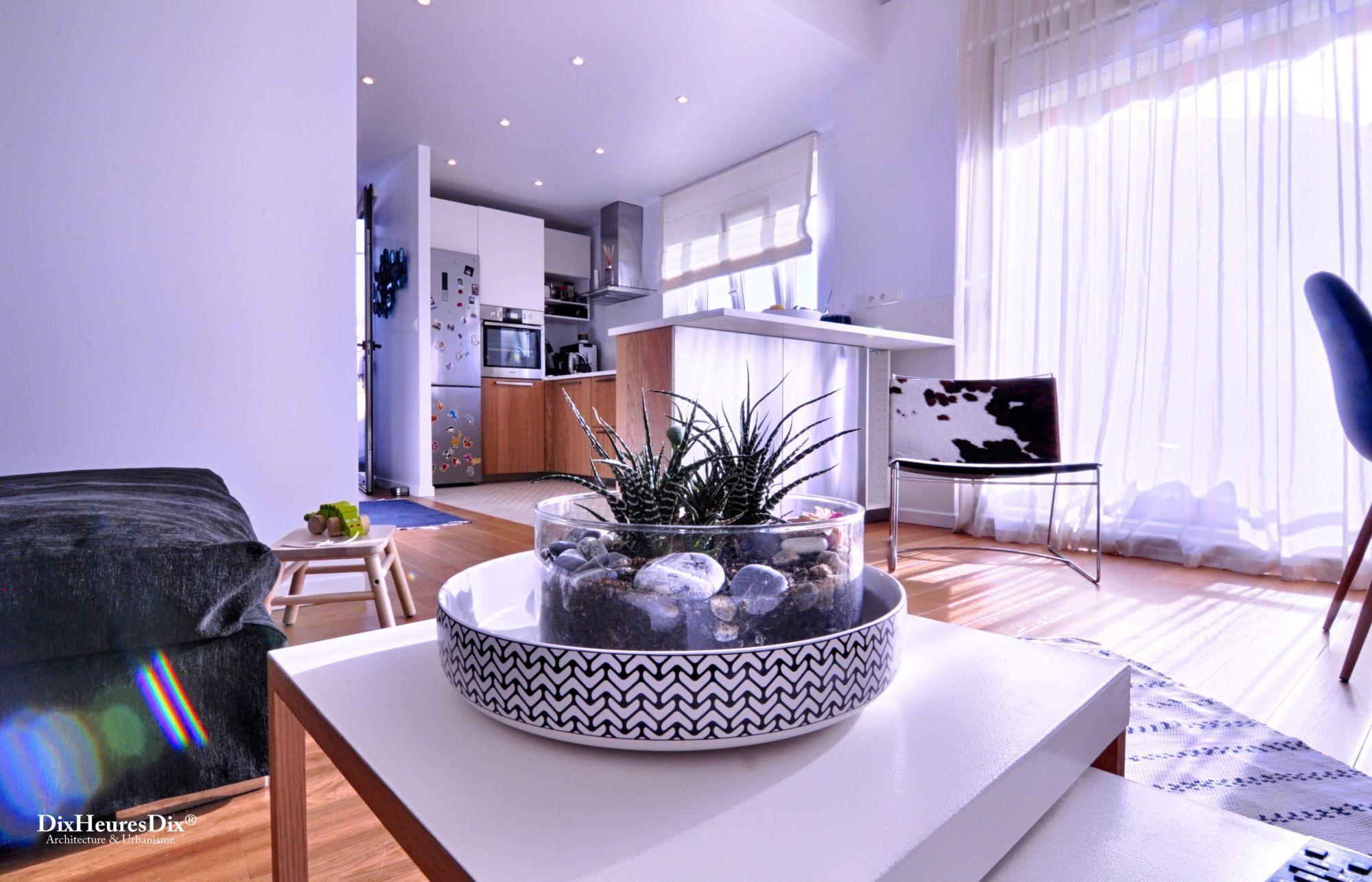 Détail de décoration avec ue sur la cuisine ouverte