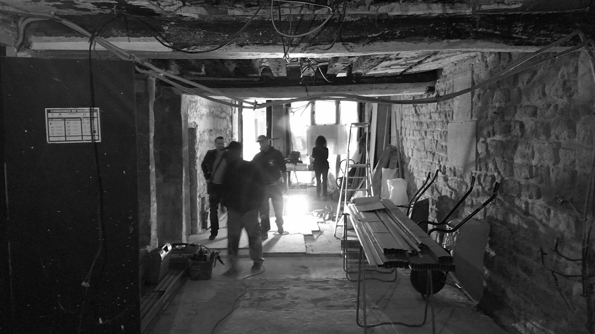 Chantier intérieur, salle de restauration