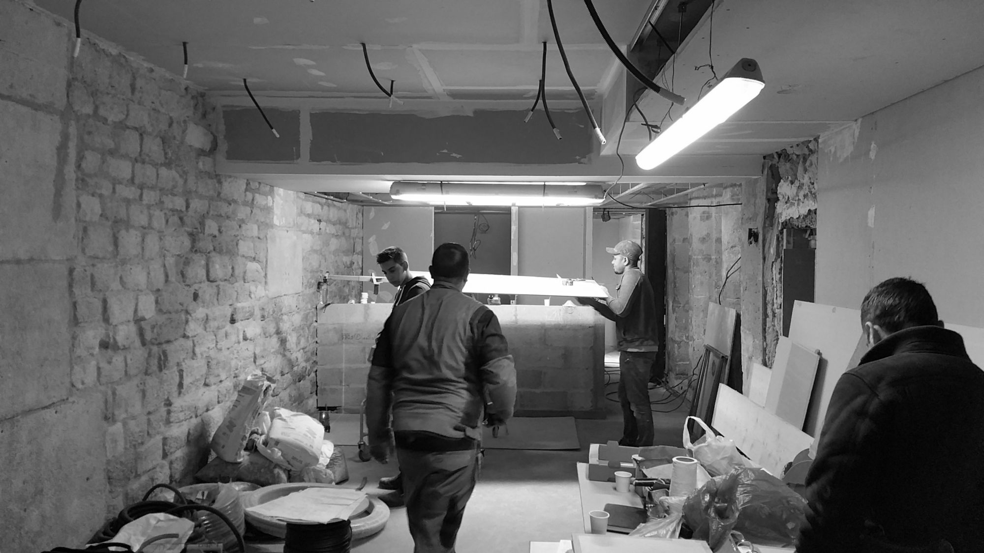 Chantier intérieur salle de restauration