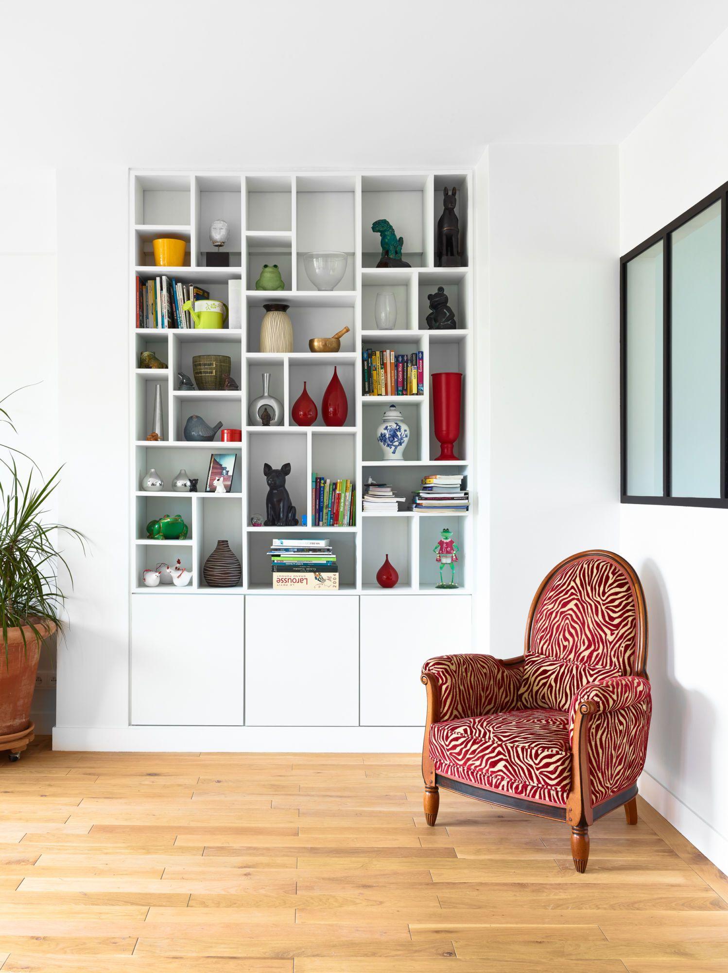 Bibliothèque appartement vincennes